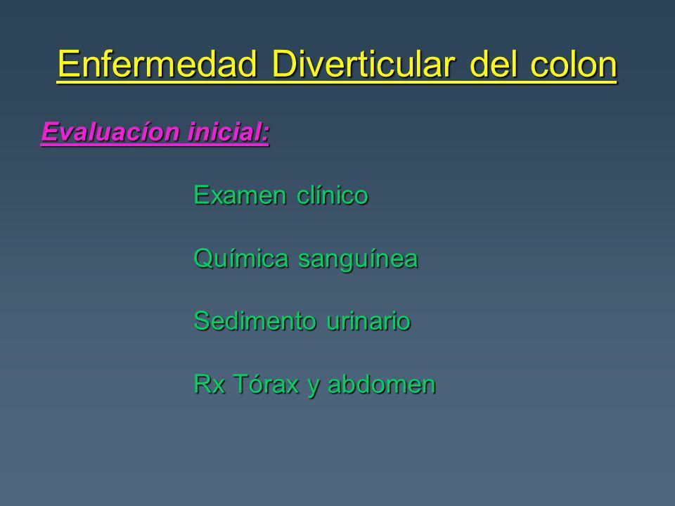 Evaluacíon inicial: Examen clínico Examen clínico Química sanguínea Química sanguínea Sedimento urinario Sedimento urinario Rx Tórax y abdomen Rx Tórax y abdomen