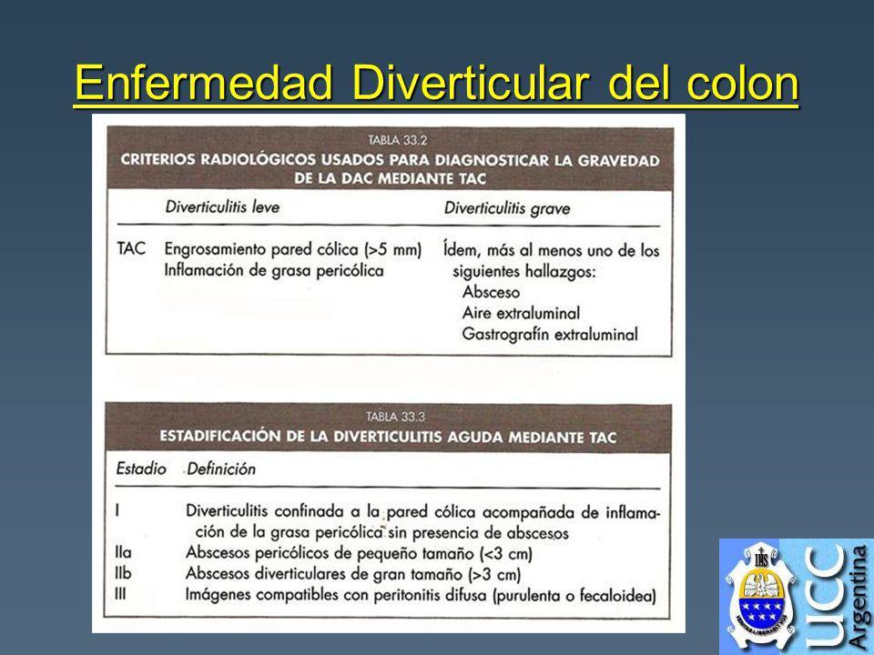 Enfermedad Diverticular del colon