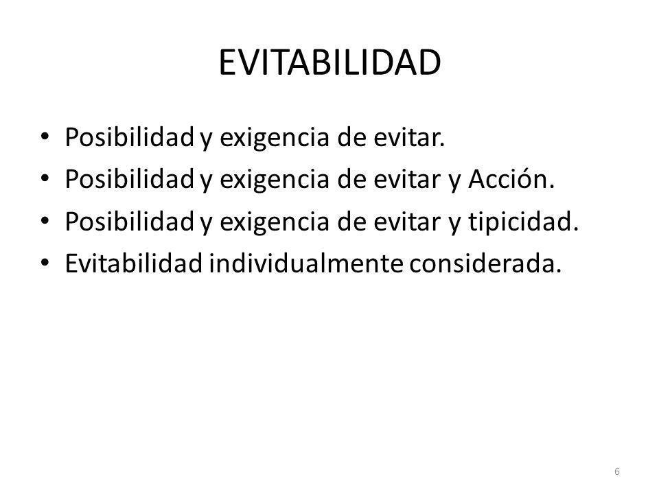 7 PREVISIBILIDAD Previsibilidad como componente subjetivo del tipo.