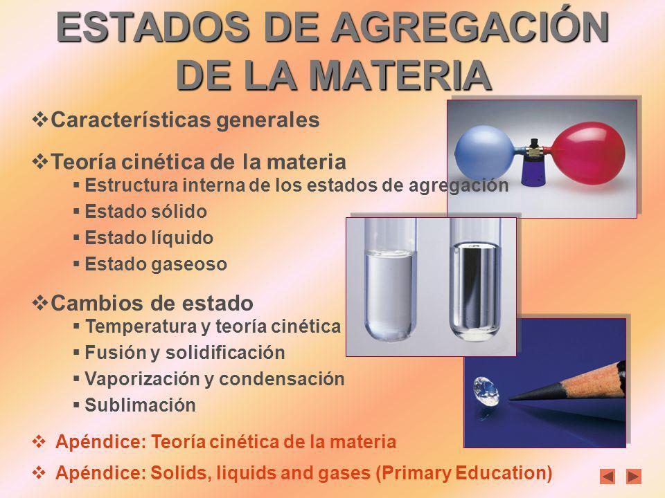 ÍNDICE ESTADOS DE AGREGACIÓN DE LA MATERIA Nela Álamos Colegio Alcaste