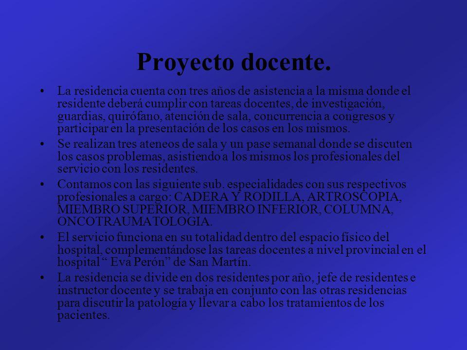 Programa de Investigación Se realiza presentaciones de pósters en congresos de la especialidad con casos problema.