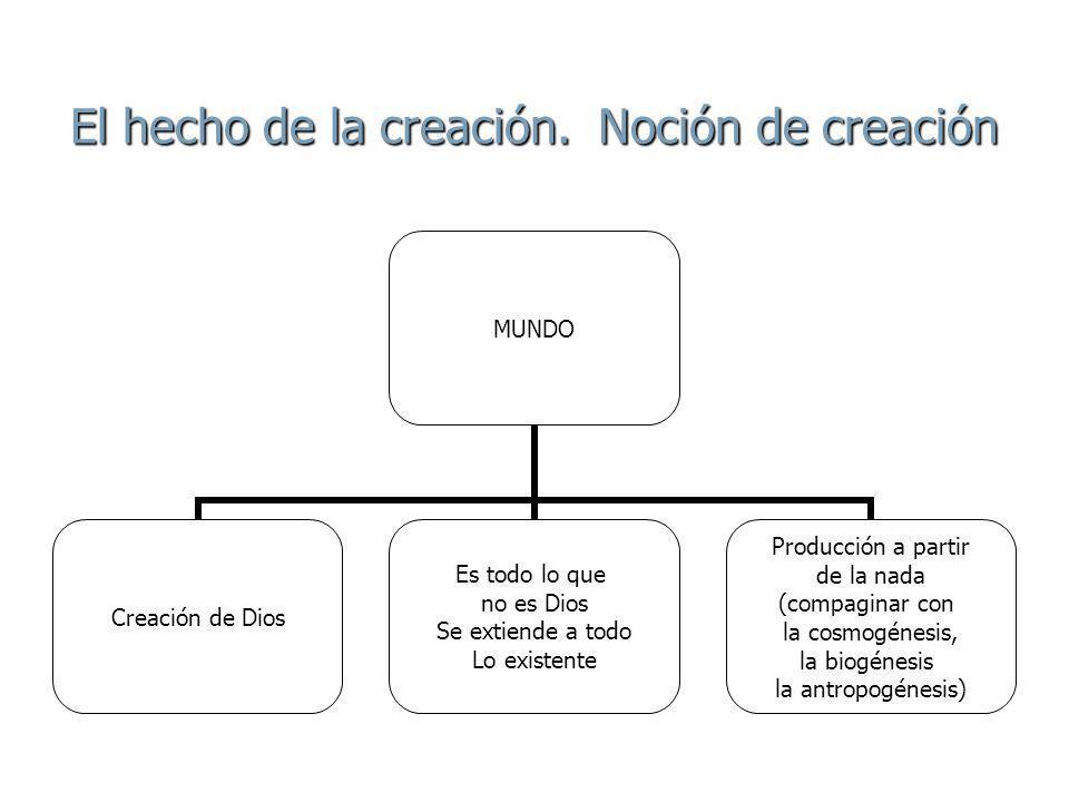 El hecho de la creación.