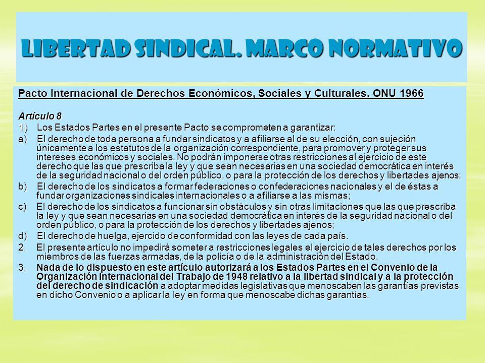 Libertad sindical.Marco normativo Convenio OIT N° 98 (8/6/49) Artículo 1 1.