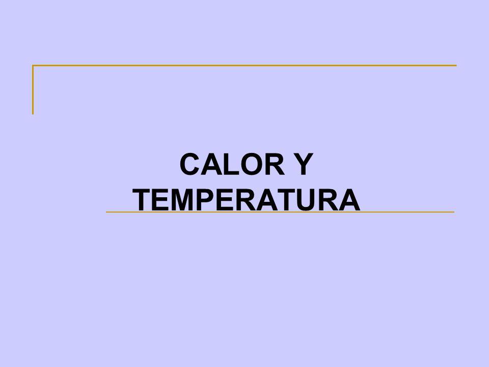 Concepto de Calor y Temperatura El calor es el contenido energético que posee un cuerpo en forma de energía cinética debido al movimiento desordenado de sus moléculas El calor fluye de los cuerpos que se encuentran a mayor temperatura a los de menor temperatura.