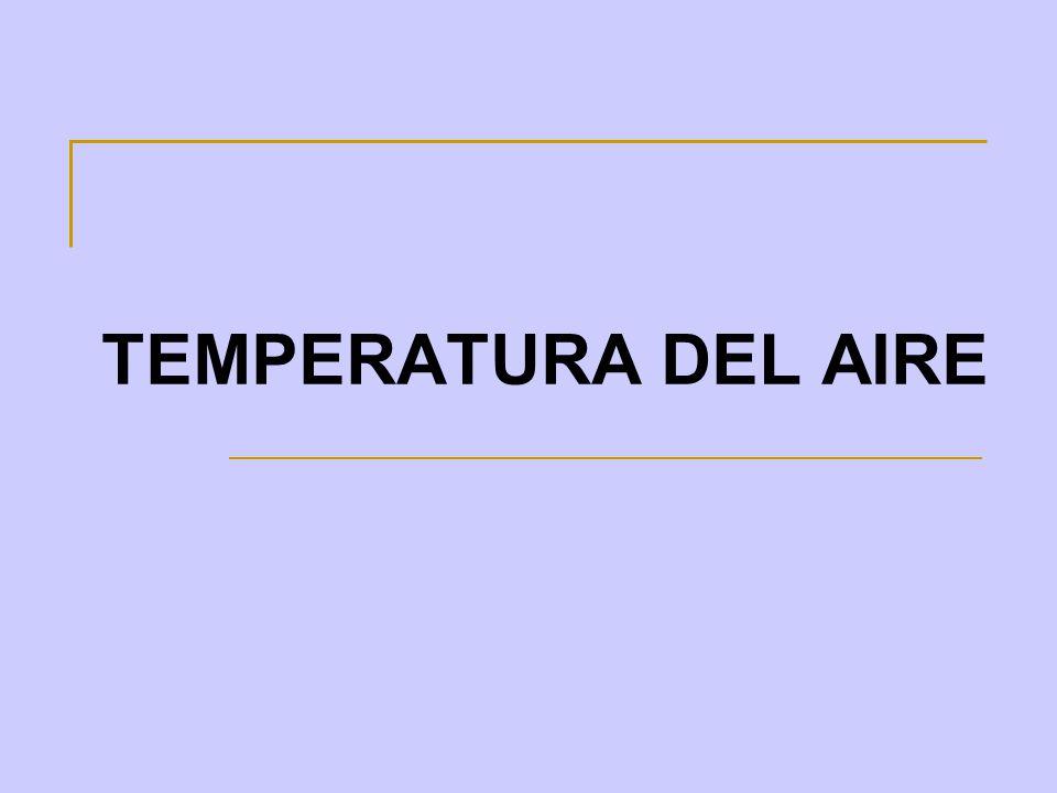TEMPERATURA DEL AIRE