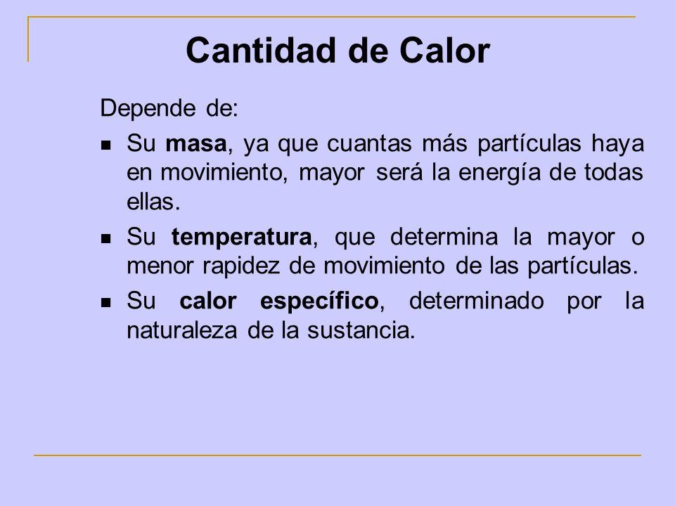 La Temperatura es independiente de la masa de un cuerpo.