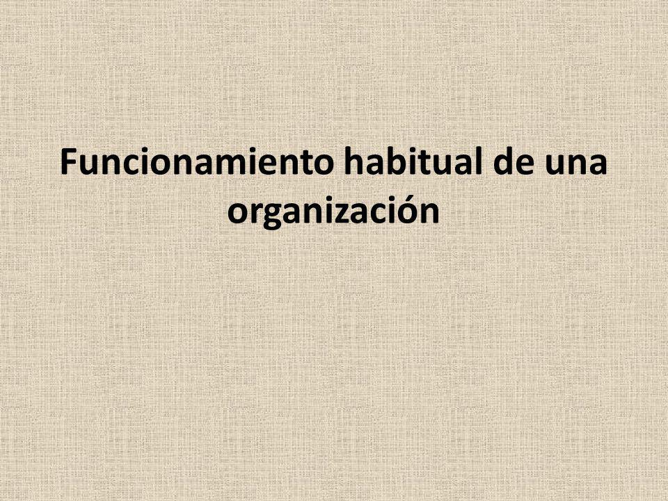 Funcionamiento habitual de una organización