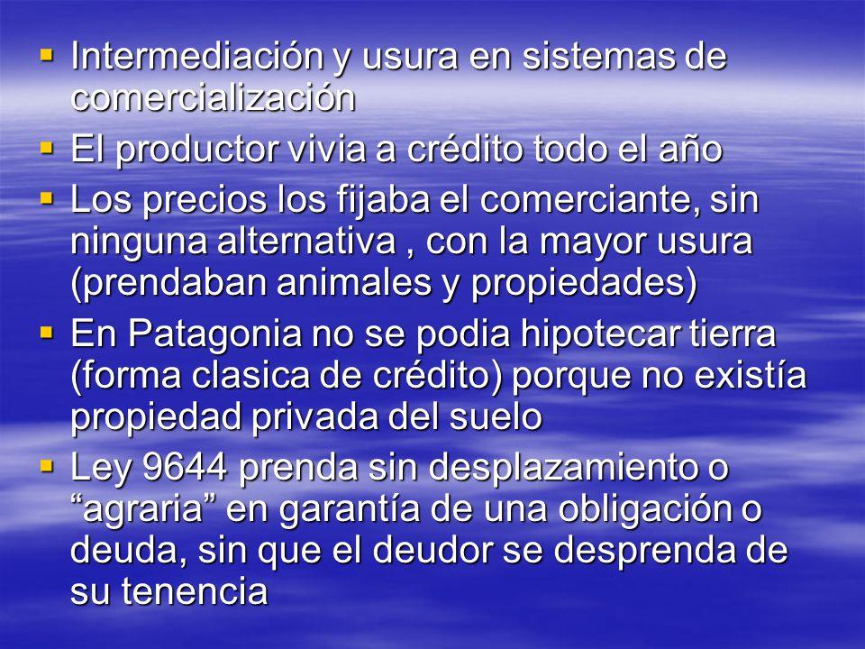 Intermediación y usura en sistemas de comercialización Intermediación y usura en sistemas de comercialización El productor vivia a crédito todo el año