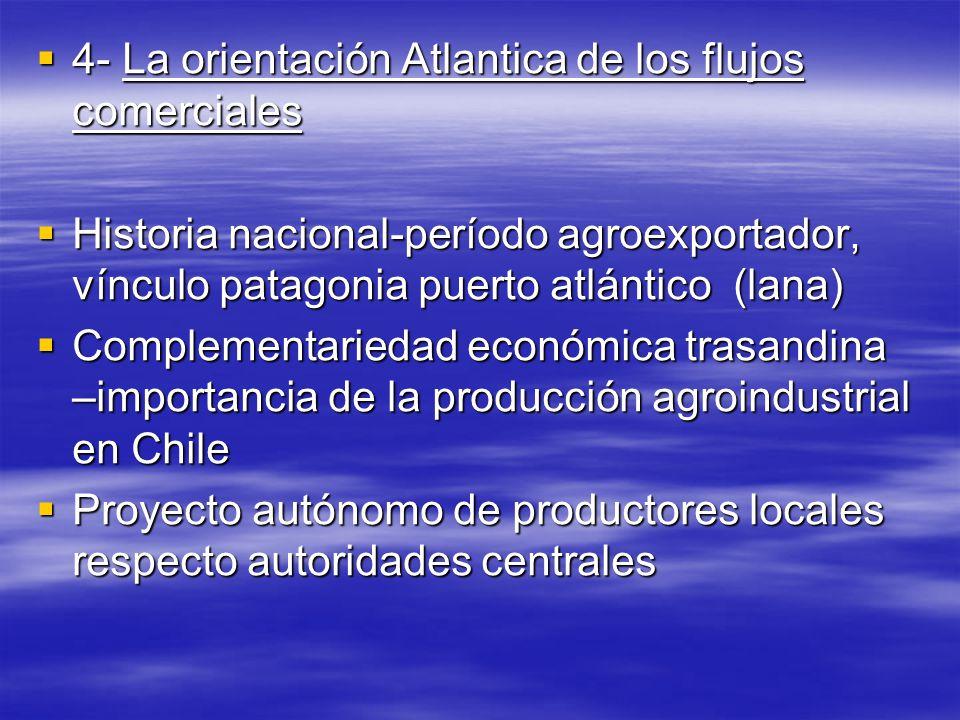 4- La orientación Atlantica de los flujos comerciales 4- La orientación Atlantica de los flujos comerciales Historia nacional-período agroexportador,