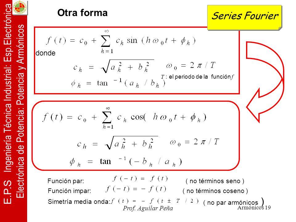 E.P.S Ingeniería Técnica Industrial: Esp.Electrónica Electrónica de Potencia: Potencia y Armónicos Prof.