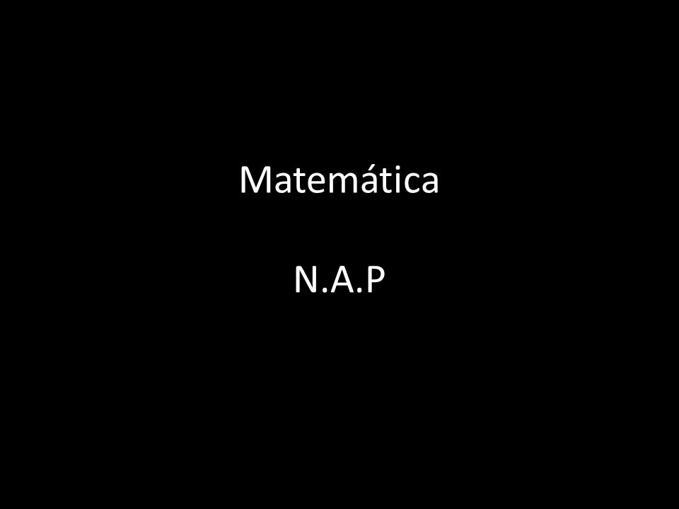 Matemática N.A.P