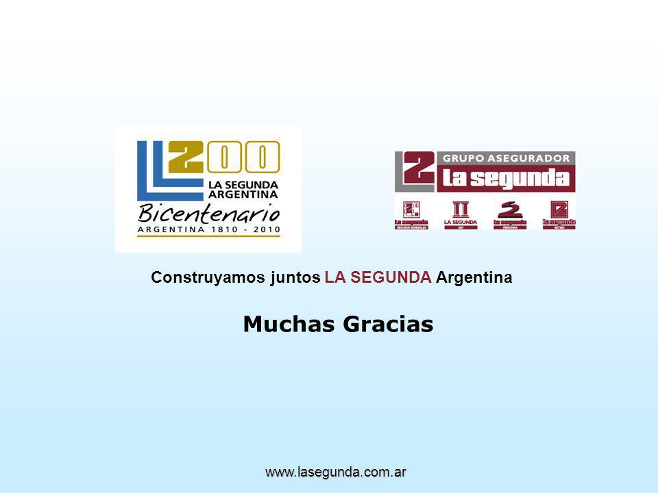 Construyamos juntos LA SEGUNDA Argentina Muchas Gracias www.lasegunda.com.ar