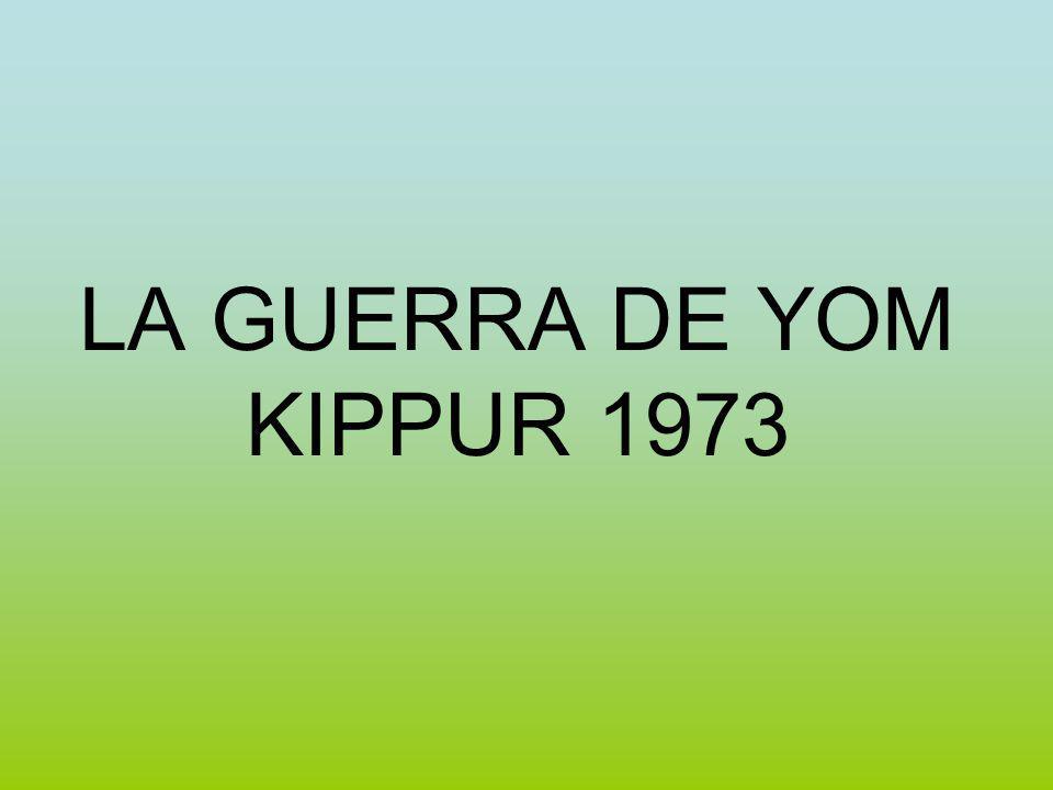 LA GUERRA DE YOM KIPPUR 1973