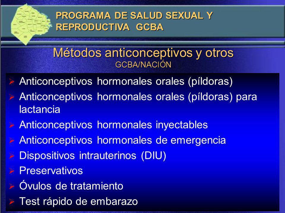 Lugares/servicios/consultorios En los Hospitales (especialmente los Generales) el Programa suele funcionar en los servicios de ginecología y/u obstetricia.