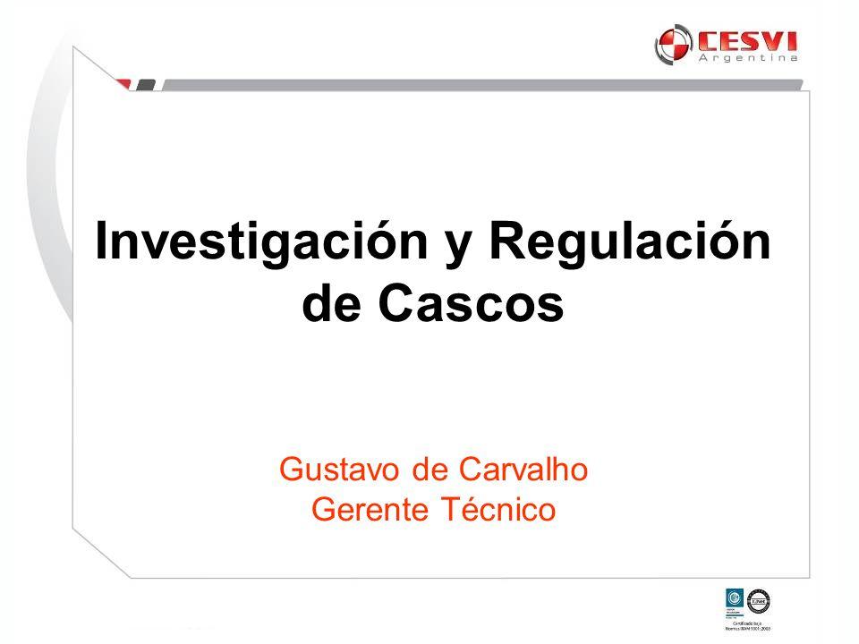 Investigación y Regulación de Cascos Gustavo de Carvalho Gerente Técnico
