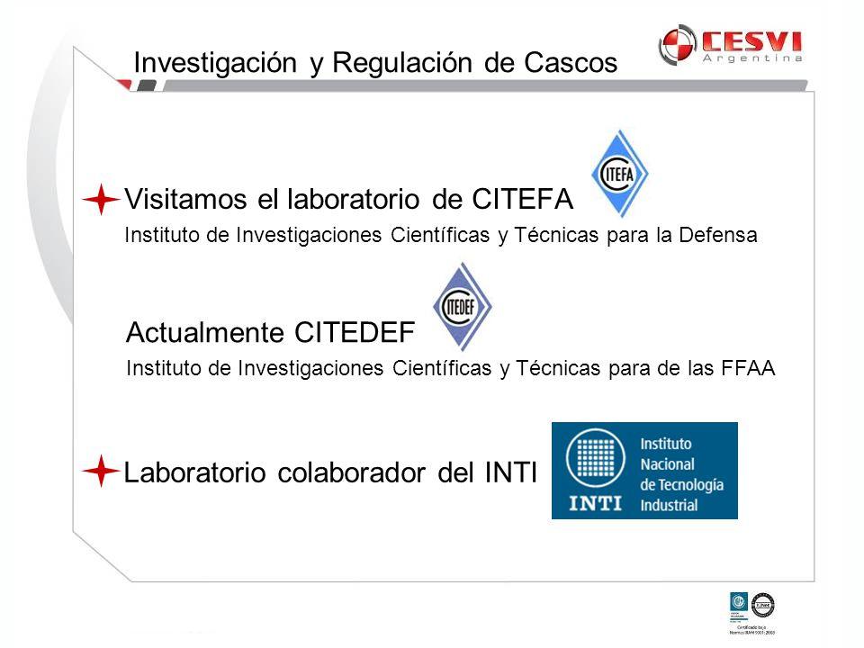 Visitamos el laboratorio de CITEFA Instituto de Investigaciones Científicas y Técnicas para la Defensa Laboratorio colaborador del INTI Actualmente CI