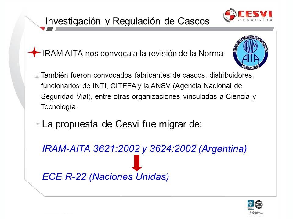 IRAM AITA nos convoca a la revisión de la Norma También fueron convocados fabricantes de cascos, distribuidores, funcionarios de INTI, CITEFA y la ANS