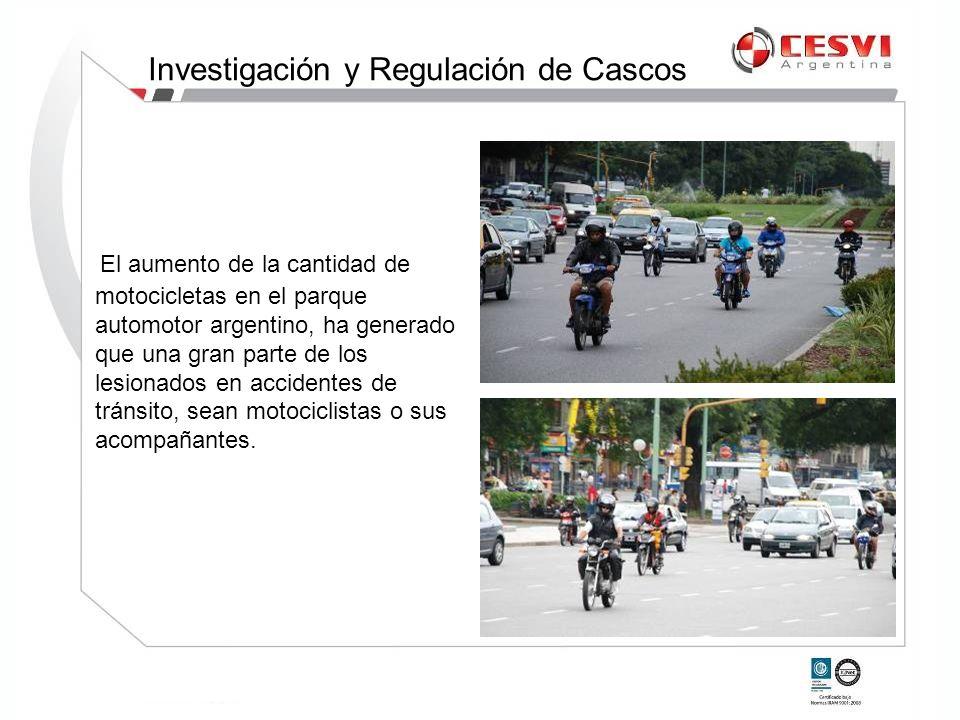 El aumento de la cantidad de motocicletas en el parque automotor argentino, ha generado que una gran parte de los lesionados en accidentes de tránsito