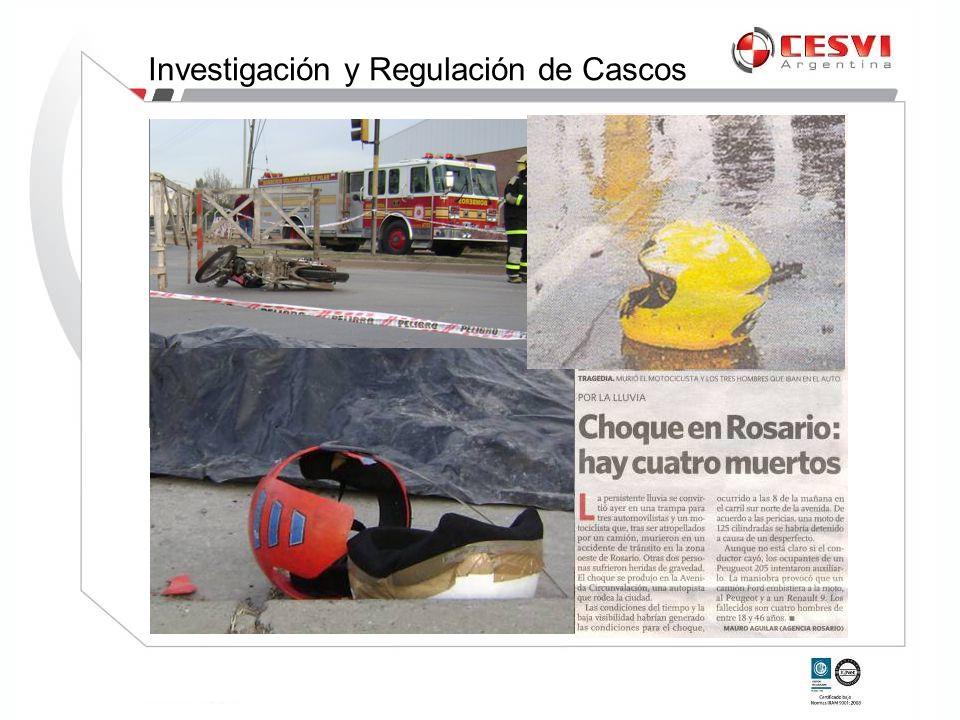 CHAS Certificado de Homologación de Autoparte de Seguridad Investigación y Regulación de Cascos