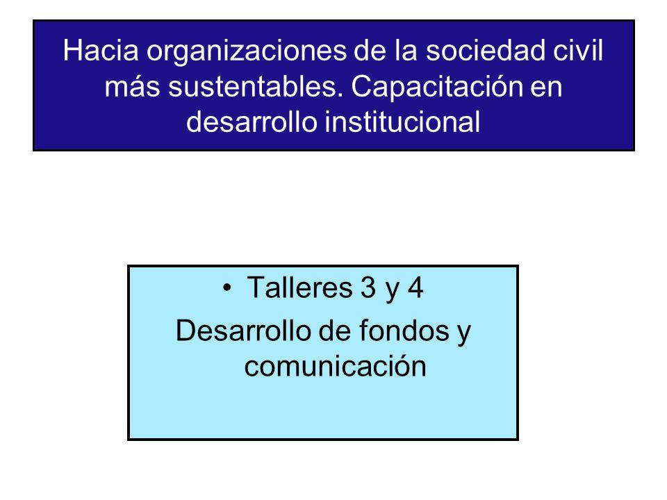 Hacia organizaciones de la sociedad civil más sustentables.