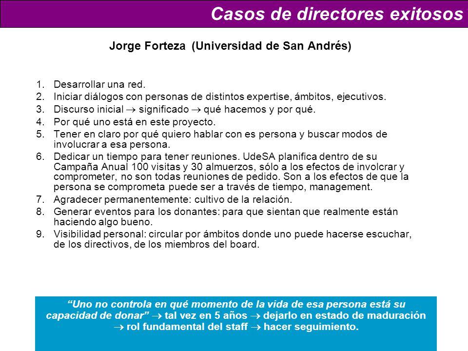 Jorge Forteza (Universidad de San Andrés) 1.Desarrollar una red.