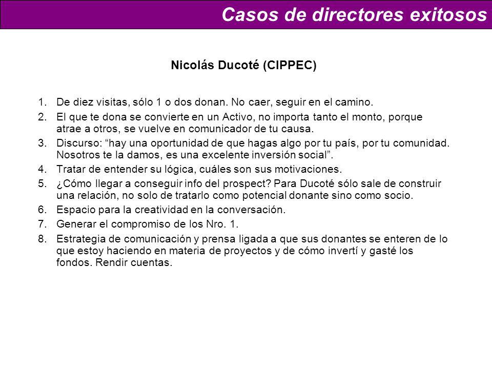 Nicolás Ducoté (CIPPEC) 1.De diez visitas, sólo 1 o dos donan.