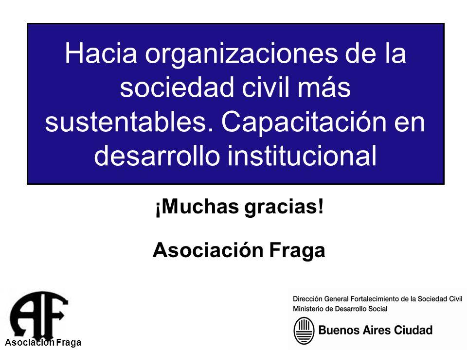 ¡Muchas gracias.Asociación Fraga Hacia organizaciones de la sociedad civil más sustentables.