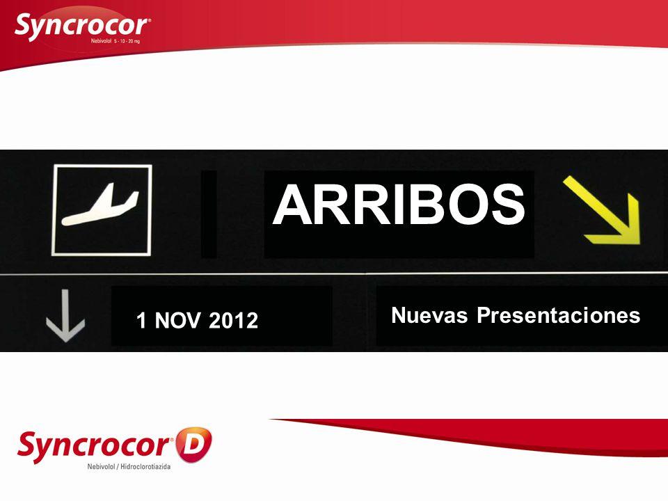 ARRIBOS Nuevas Presentaciones 1 NOV 2012