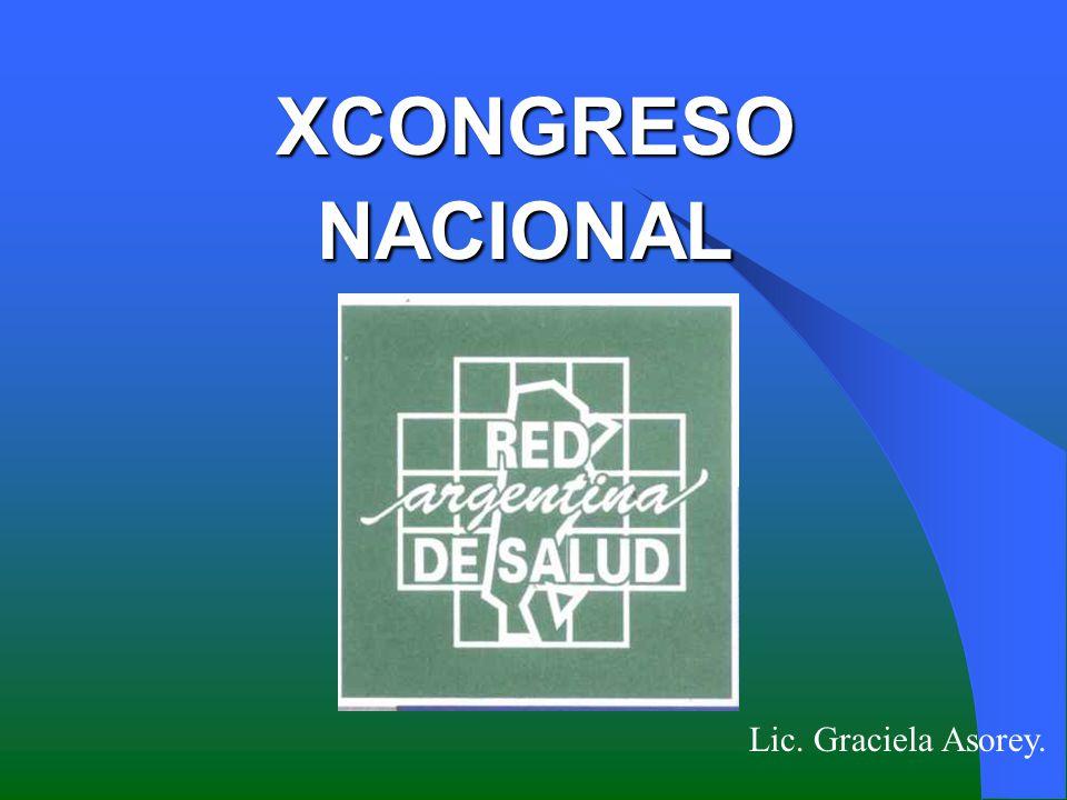 XCONGRESO NACIONAL XCONGRESO NACIONAL Lic. Graciela Asorey.