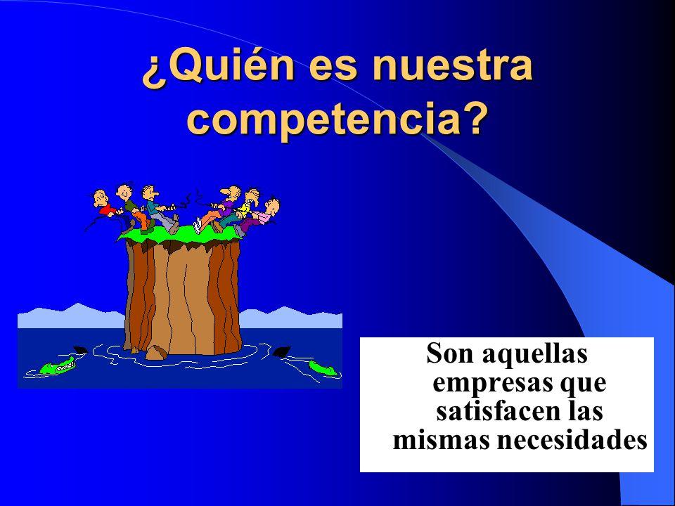 ¿Quién es nuestra competencia Son aquellas empresas que satisfacen las mismas necesidades