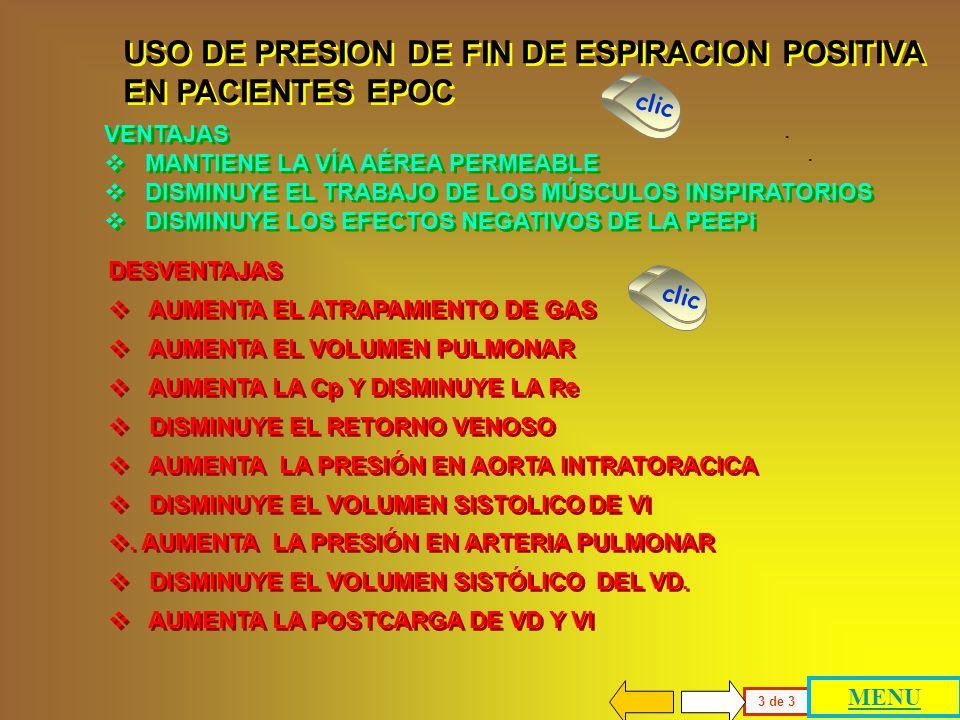 La existencia de la PEEPi se ha explicado con cierto detalle y es la justificación del uso de presión positiva de fin de espiración (PEEP) para reduci