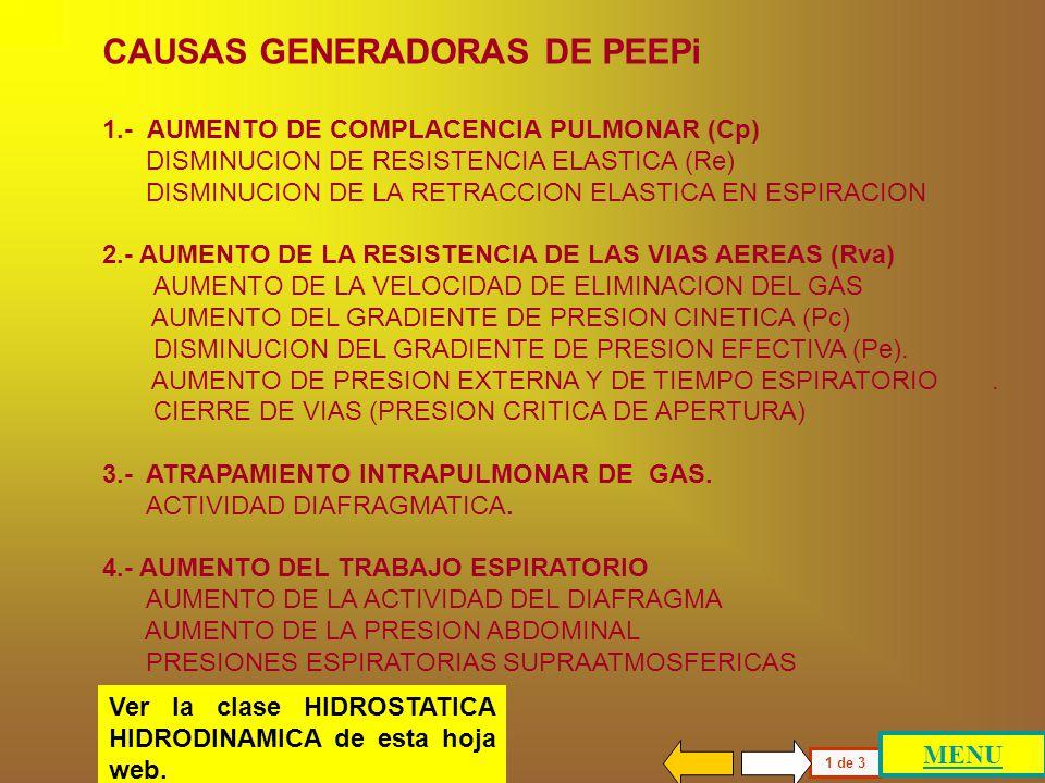 Paciente con presión de fin de espiración positiva intrínseca (PEEPi) 1 de 1 La descripción general realizada para el individuo obstructivo con PEEPn