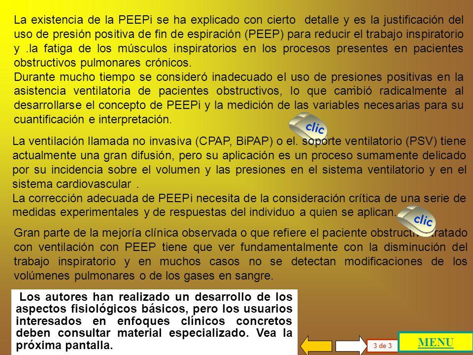 La PEEPi estática se puede conocer a través de una maniobra que involucra la medición de la complacencia estática del pulmón (Cp) y de la caja torácic