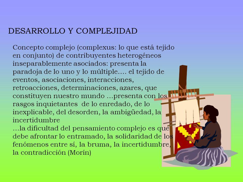 Concepto complejo (complexus: lo que está tejido en conjunto) de contribuyentes heterogéneos inseparablemente asociados: presenta la paradoja de lo un