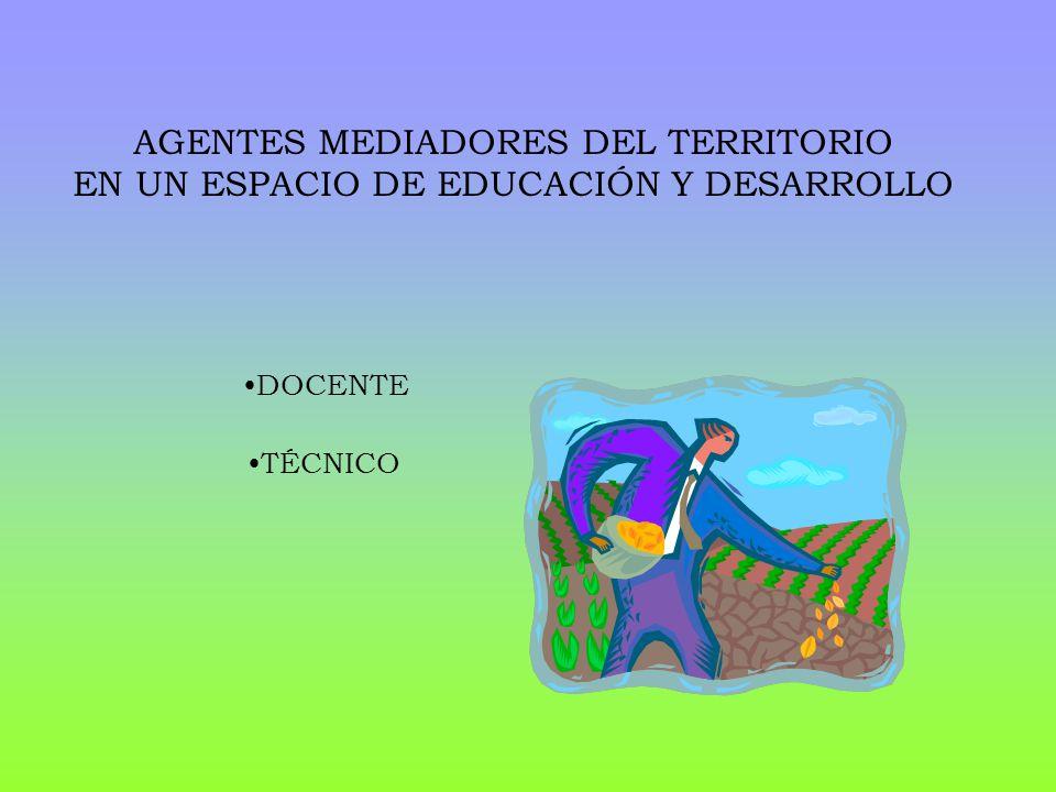 AGENTES MEDIADORES DEL TERRITORIO EN UN ESPACIO DE EDUCACIÓN Y DESARROLLO DOCENTE TÉCNICO