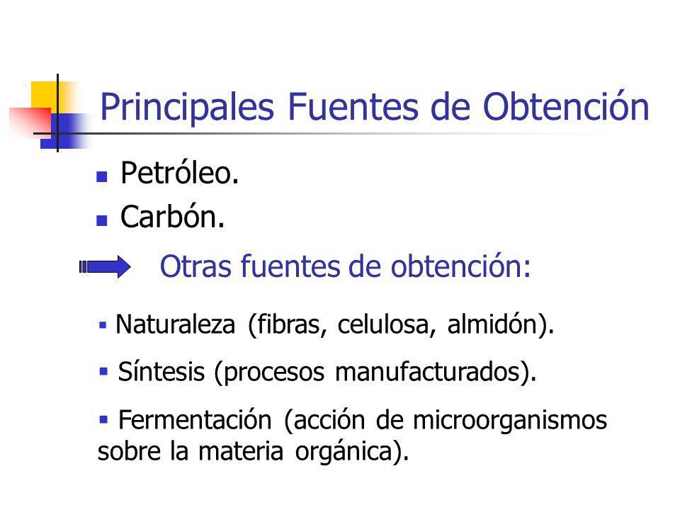 Principales Fuentes de Obtención Petróleo.Carbón.