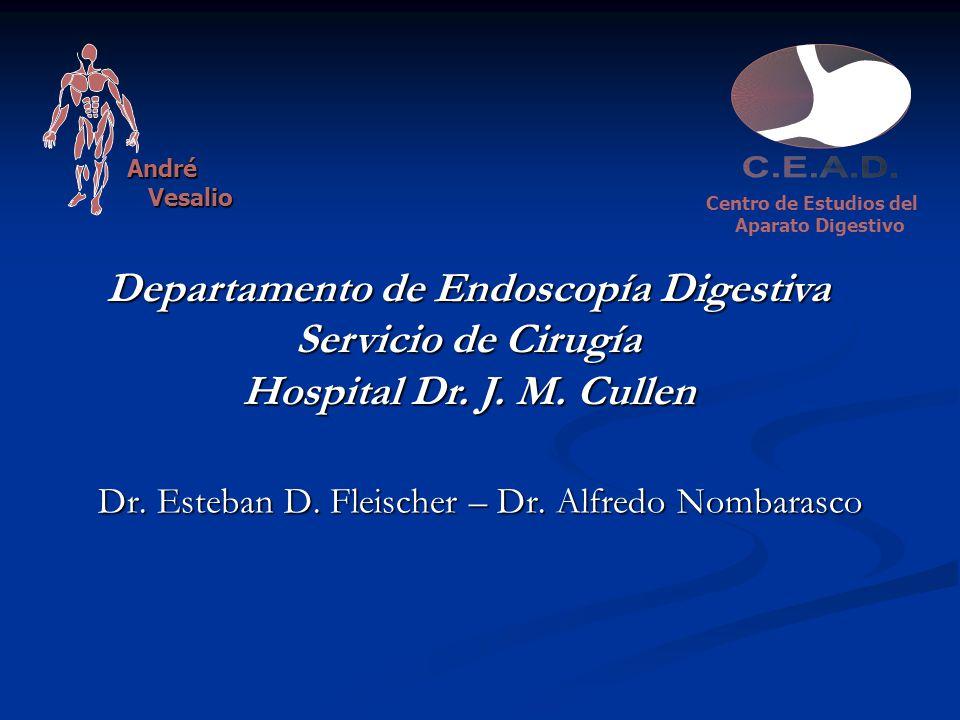 Dr. Esteban D. Fleischer – Dr. Alfredo Nombarasco Centro de Estudios del Aparato Digestivo André Vesalio Vesalio Departamento de Endoscopía Digestiva