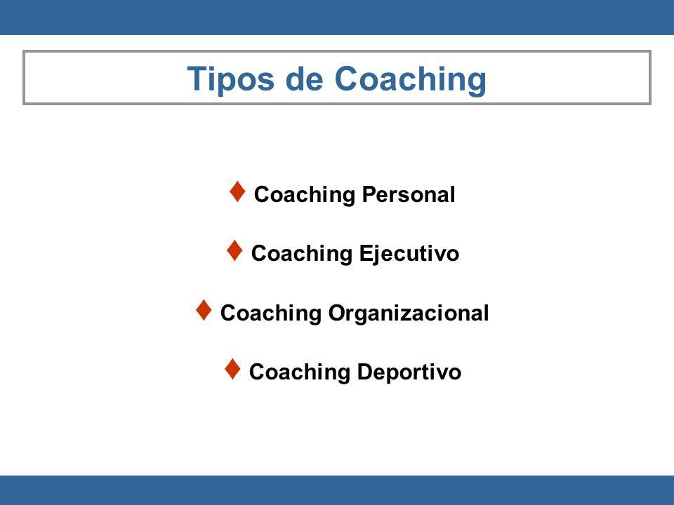 Coaching Personal Coaching Ejecutivo Coaching Organizacional Coaching Deportivo Tipos de Coaching