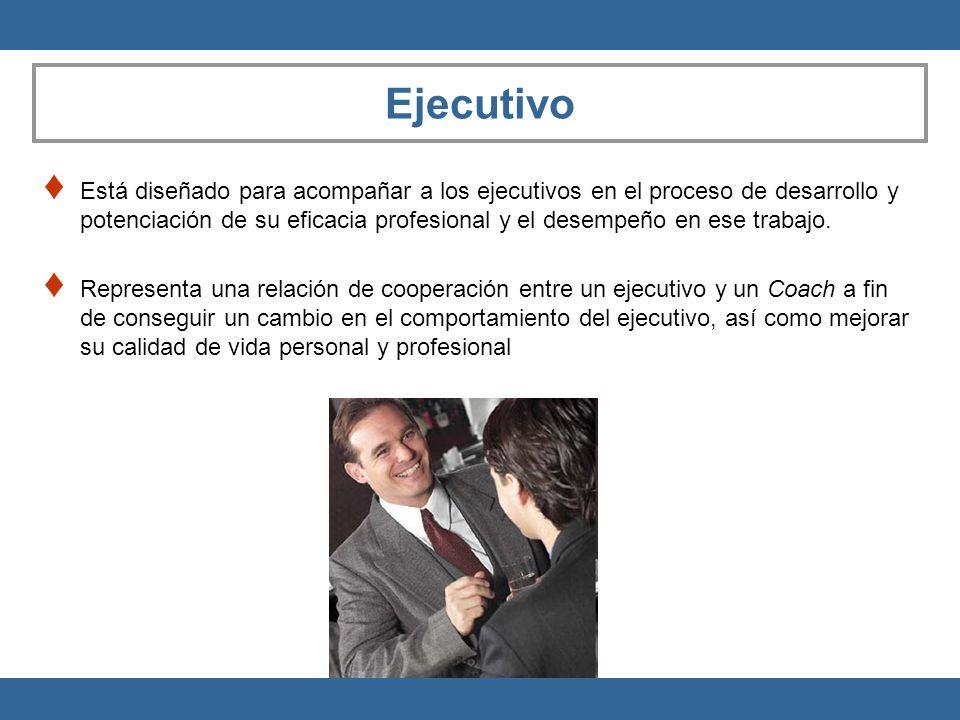 Ejecutivo Está diseñado para acompañar a los ejecutivos en el proceso de desarrollo y potenciación de su eficacia profesional y el desempeño en ese tr
