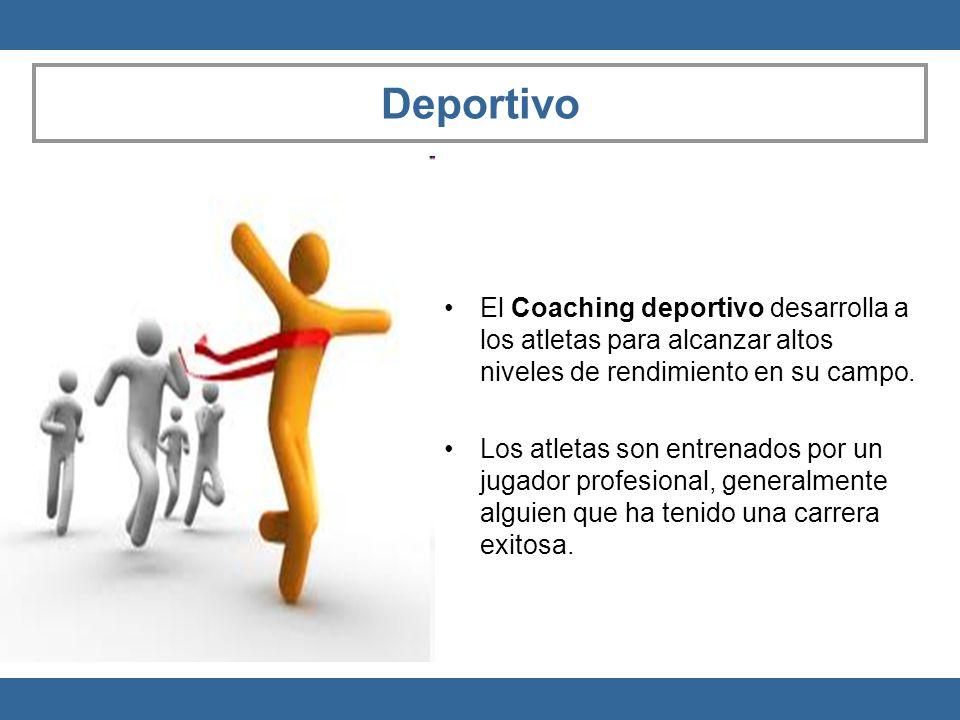 Deportivo El Coaching deportivo desarrolla a los atletas para alcanzar altos niveles de rendimiento en su campo. Los atletas son entrenados por un jug