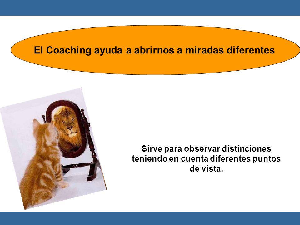 Sirve para observar distinciones teniendo en cuenta diferentes puntos de vista. El Coaching ayuda a abrirnos a miradas diferentes