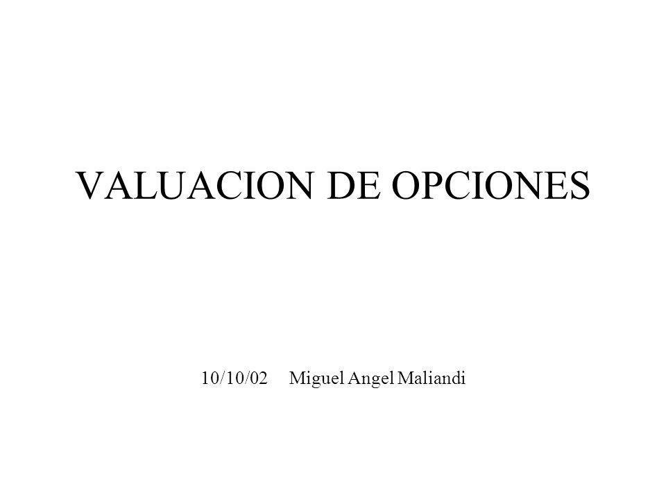 VALUACION DE OPCIONES 10/10/02 Miguel Angel Maliandi