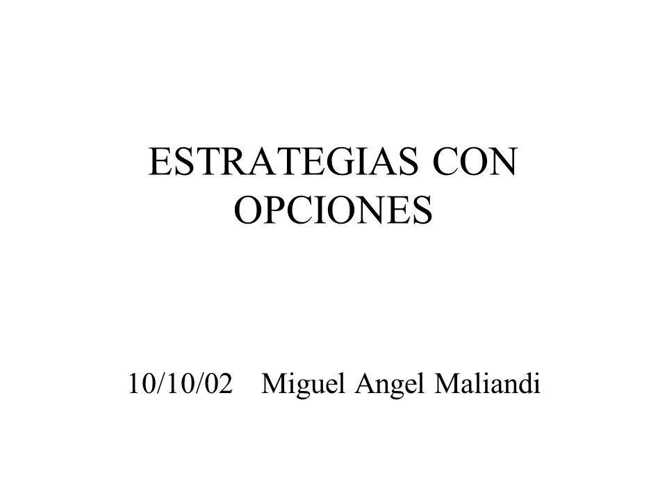 ESTRATEGIAS CON OPCIONES 10/10/02 Miguel Angel Maliandi