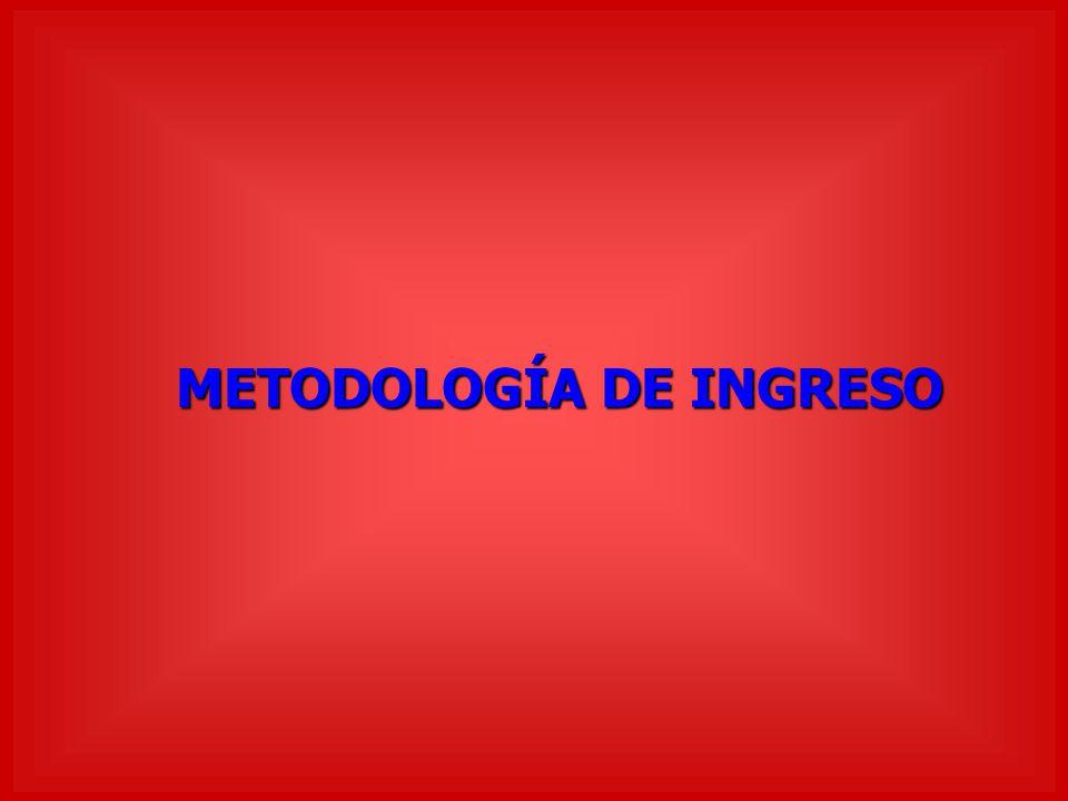 METODOLOGÍA DE INGRESO