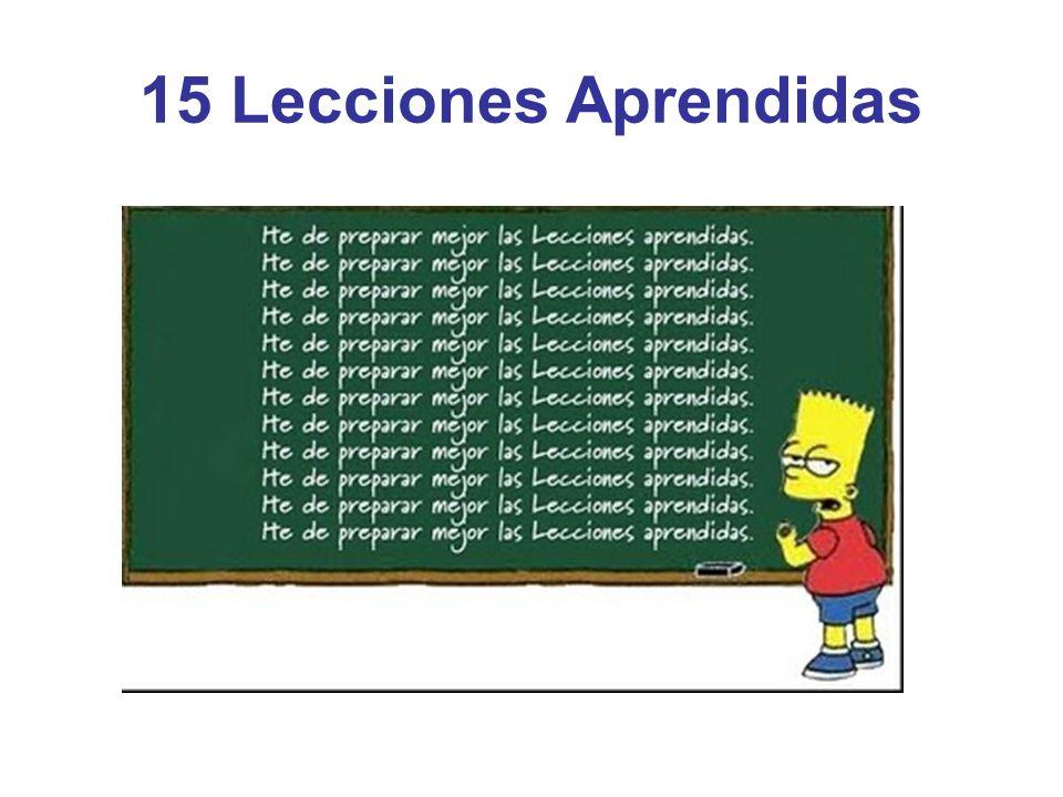 15 Lecciones Aprendidas
