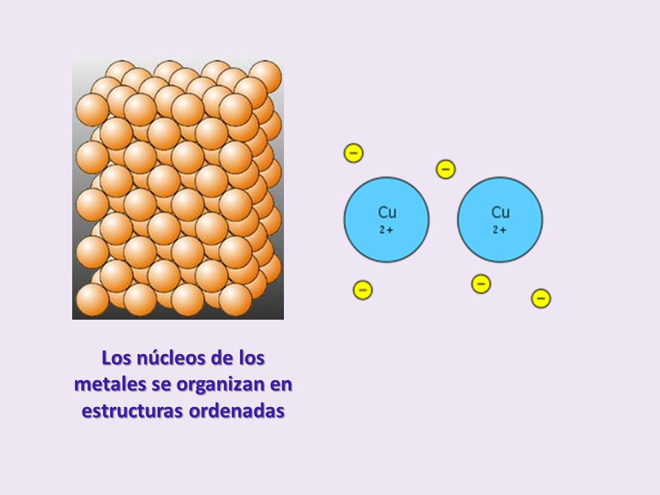 CARACTERÍSTICAS Conductividad eléctrica: Se da por la presencia de un gran número de electrones móviles.