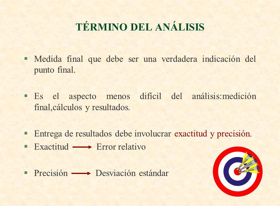 §Los resultados analíticos son completos cuando se ha estimado su confiabilidad.