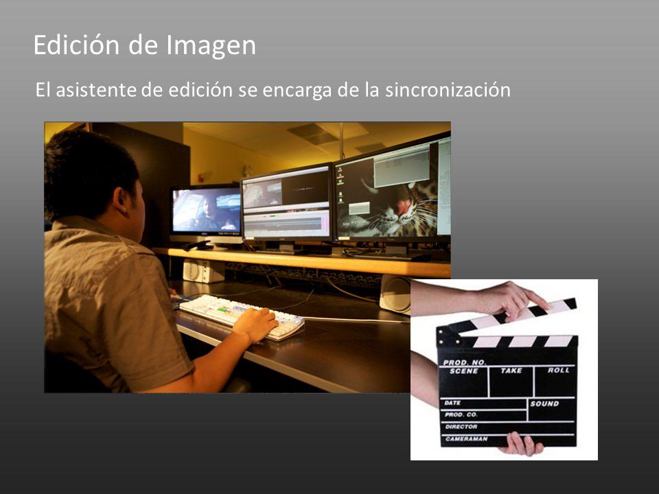 Edición de Imagen El asistente de edición se encarga de la sincronización