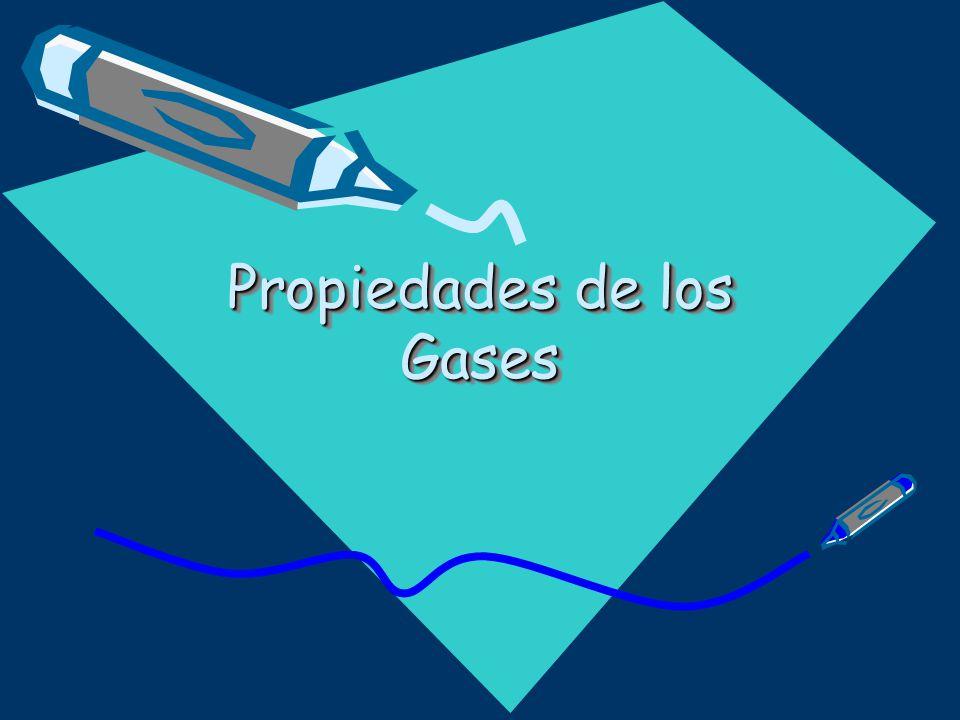 Gases Modelo Corpuscular y Teoría Cinética Propiedades Masa Volumen Difunde Comprime Expande Fluye
