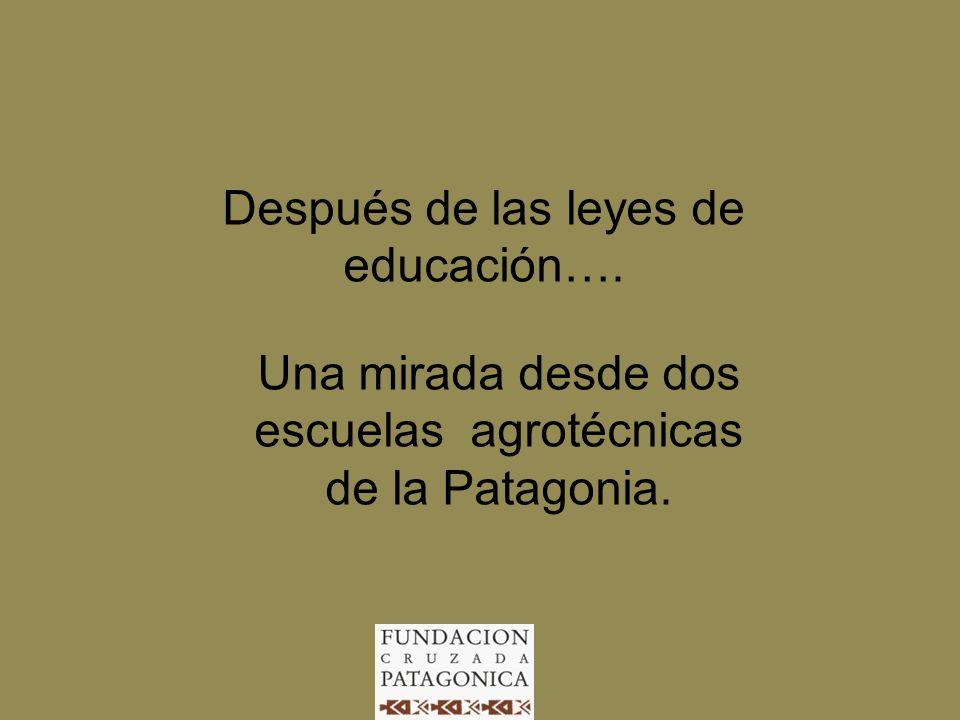 Después de las leyes de educación…. Una mirada desde dos escuelas agrotécnicas de la Patagonia.